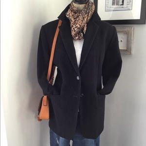 Black Nygard Wool Blend Blazer